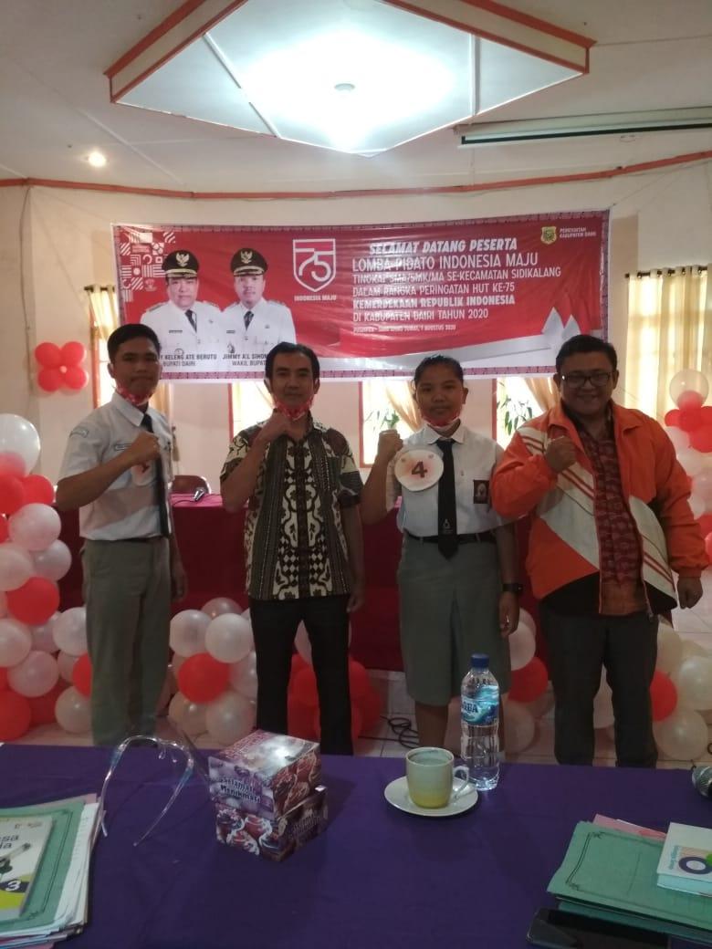 Bupati Dairi Buka Lomba Pidato Tingkat SMA/SMK Sambut HUT Kemerdekaan RI Ke 75